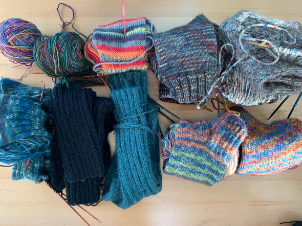 Knitting Socks April 2020