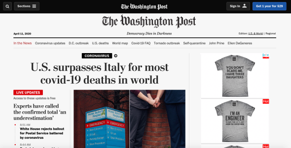 Washington Post April 11 2020